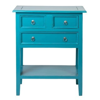 Columbus Blue Square Side Table