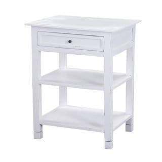 Coshocton White Square Side Table