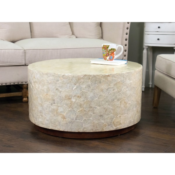 Montgomery White Round Coffee Table 17269309 Shopping Great Deals On Crafted