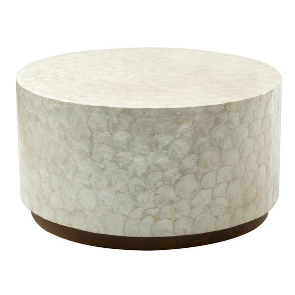 Montgomery White Round Coffee Table Free Shipping Today 17269309