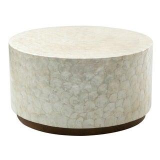 Montgomery White Round Coffee Table