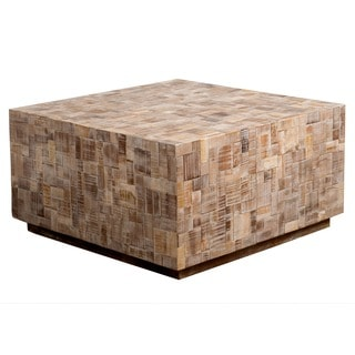 Amory Tan Square Coffee Table