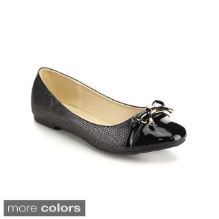 Via Pinky GINNY-02 Women's Chic Bow-topped Ballet Flats