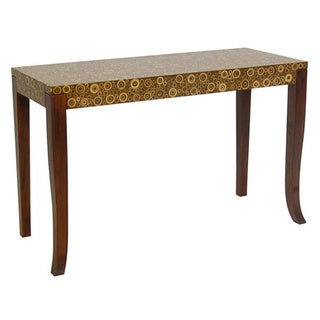 Baldwin Brown Rectangle Accent Table