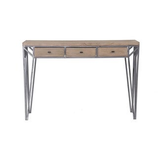 Davie Tan Rectangle Console Table