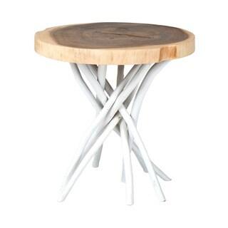 Hamilton White Round Side Table