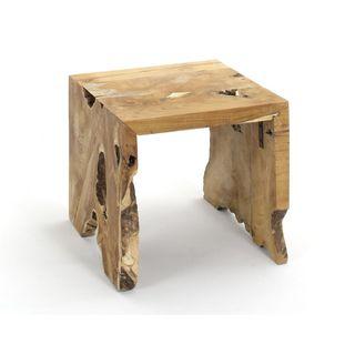 Hollandale Tan Square Side Table