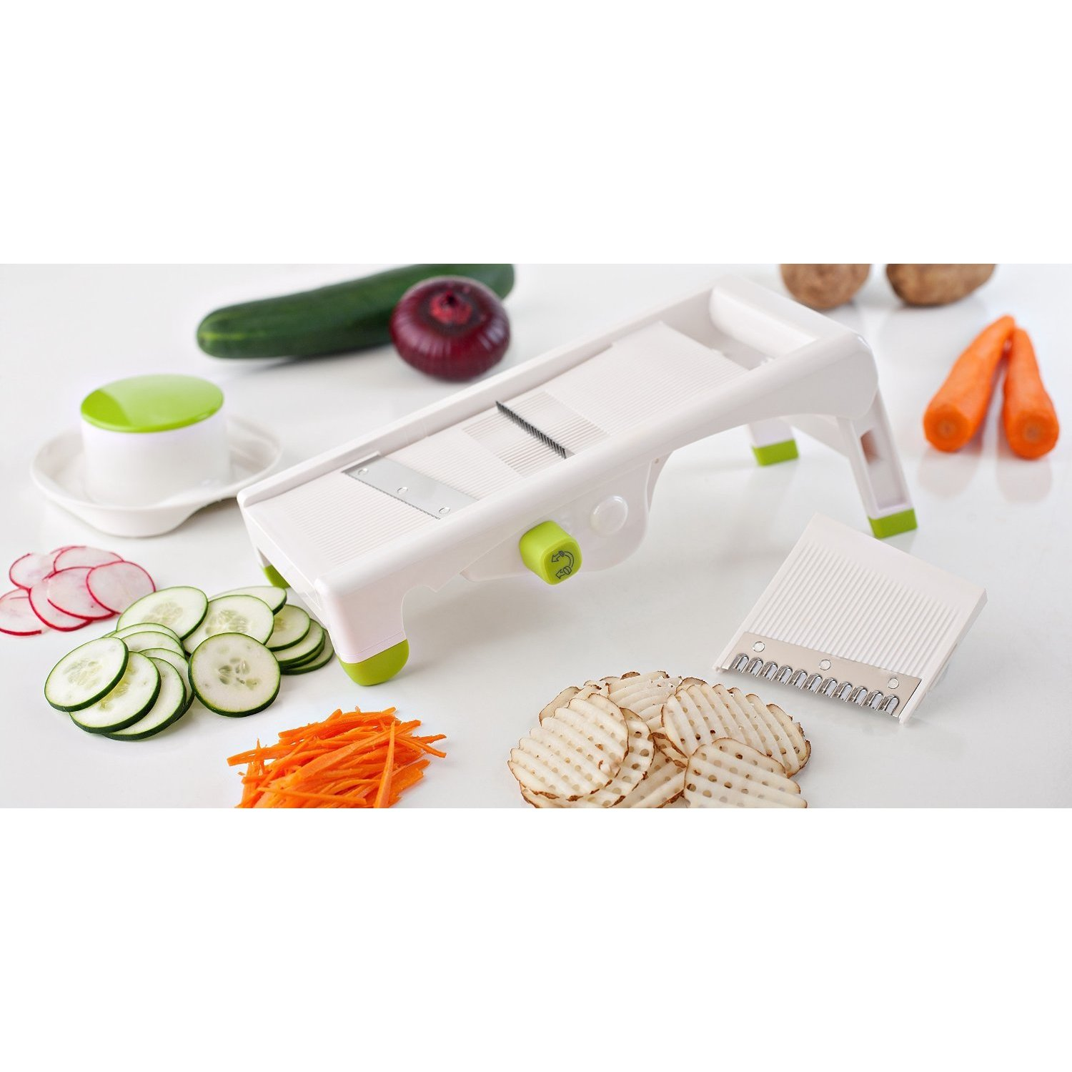 Paderno World Cuisine Mandolin Vegetable Slicer Overstock 10132294