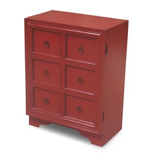 Shawnee Casual Red Square Accent Table