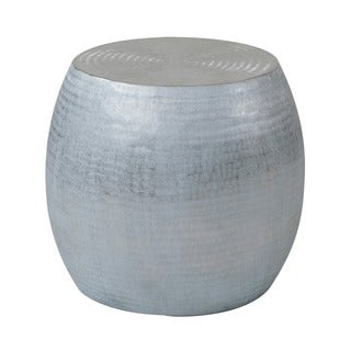 Colby Modern Silver Round Accent Table