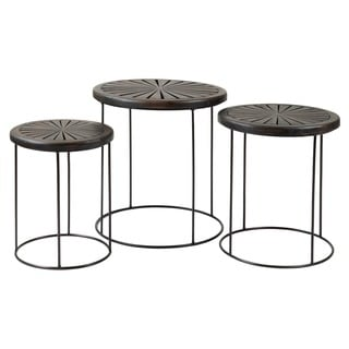 Pittsburg Casual Brown Round Nesting Table