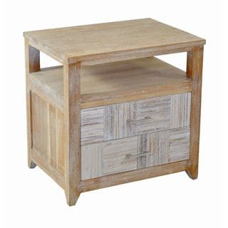 Derby Rustic Brown Square Side Table