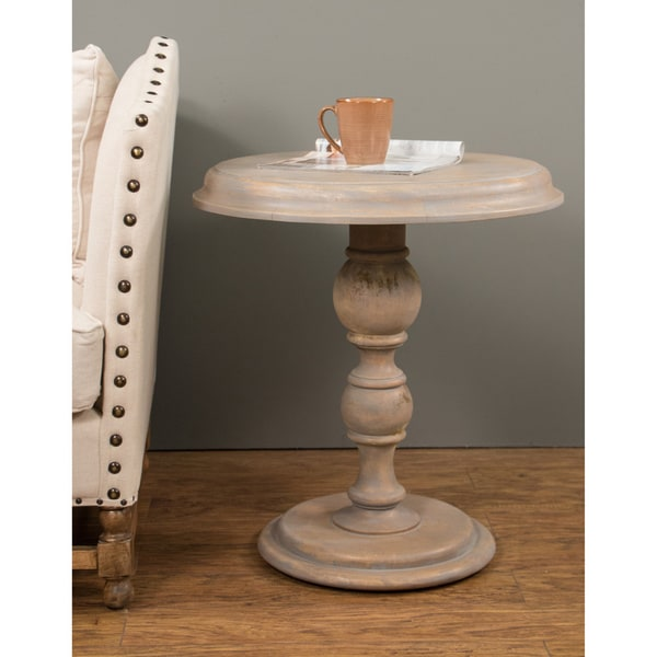 Lansing Casual Brown Round Side Table