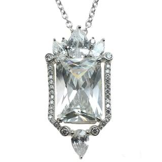Michael Valitutti Silver Cubic Zirconia Royal Pendant