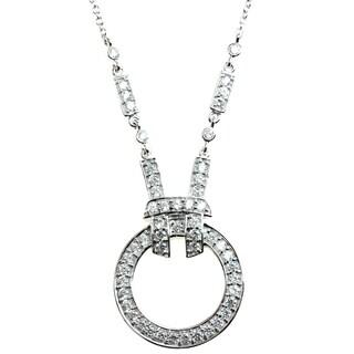 Michael Valitutti Silver Cubic Zirconia Circle Pendant
