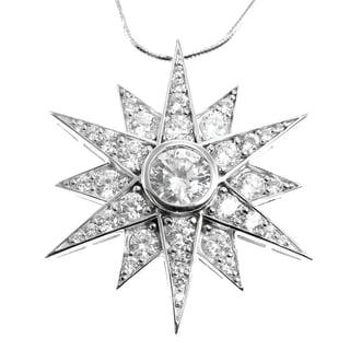 Michael Valitutti Silver Cubic Zirconia Star Pendant