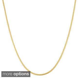 Gioelli Sterling Silver Adjustable 1.8mm Snake Chain Necklace