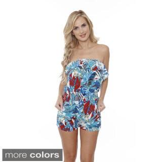 White Mark Women's Summertime Strapless Romper (4 options available)
