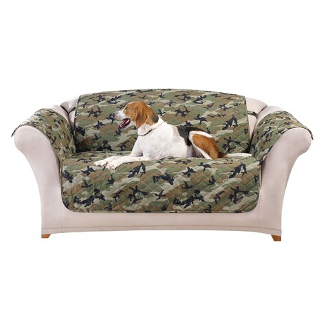 Sure Fit Camouflage Pet Loveseat Furniture Protector/Cover