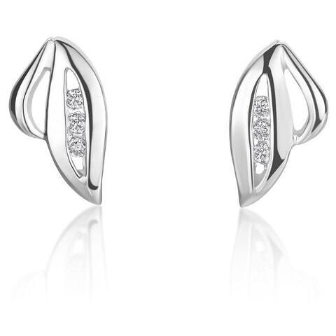 SummerRose 14k White Gold Diamond Accent Stud Earrings