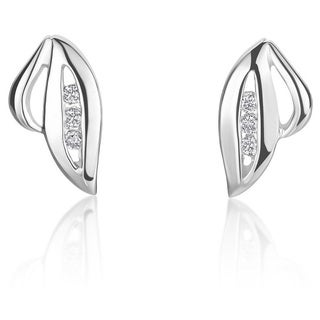 SummerRose 14k White Gold Diamond Accent Fashion Motif Earrings ( H-I, SI1-SI2)