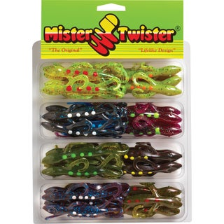 Mister Twister 6 Inch Spotted Super Lizard Kit 32 Assorted