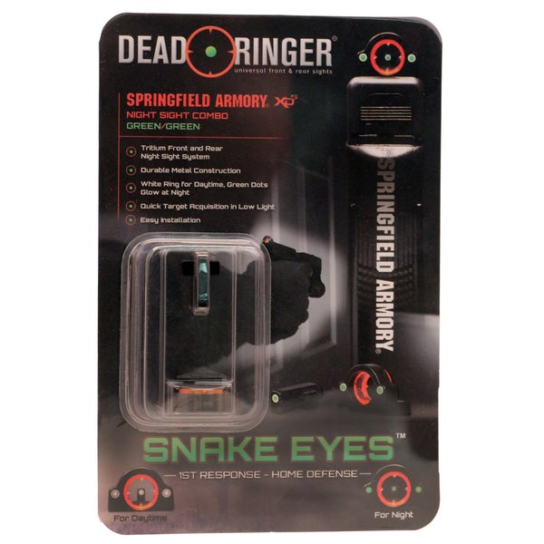 Dead Ringer Springfield XDS 45ACP 9mm Green Green Sight