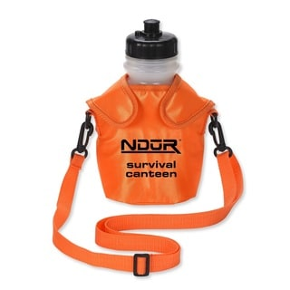 NDuR 46oz Survival Canteen with Advanced Filter Orange Pouch