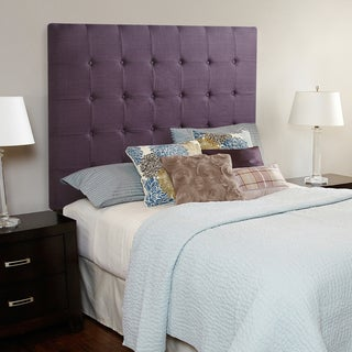 Humble + Haute Stratton Iris Purple Linen Tall Full Tufted Upholstered Headboard