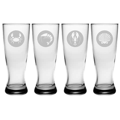 Clambake Circles Grand Pilsner Glass (Set of 4)