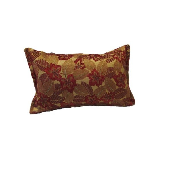 Corona Decor Red Mosaic Leaf Pattern Rectangular Decorative Pillow Delectable Rectangular Decorative Pillows For Couch