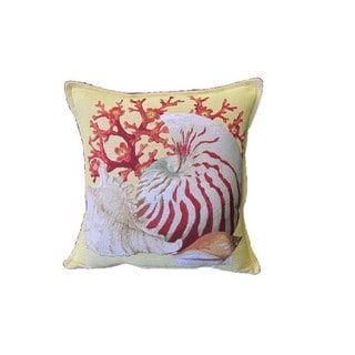 Corona Decor Conch Shell Design Decorative Pillow