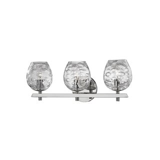 Hudson Valley Burns 3-light Nickel Vanity with Clear Shade