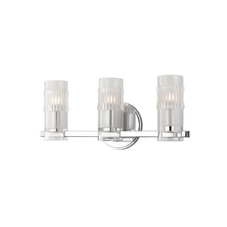 Hudson Valley Malone 3-light Chrome Vanity with Clear Glass Shade