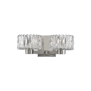 Hudson Valley Anson 2-light Satin Nickel Vanity with Clear Glass Shade