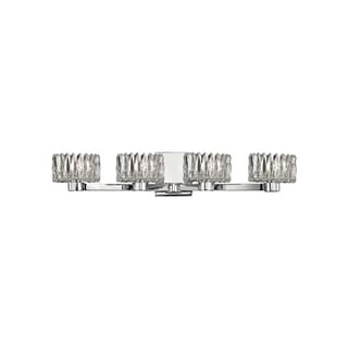 Hudson Valley Anson 4-light Chrome Vanity with Clear Glass Shade