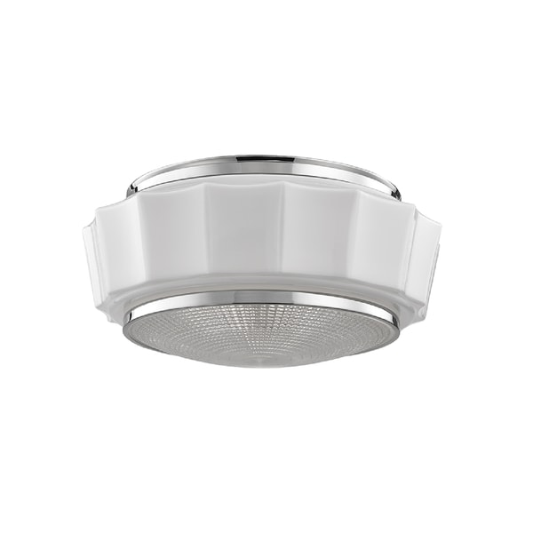 Hudson Valley Odessa 3-light Nickel Flush Mount