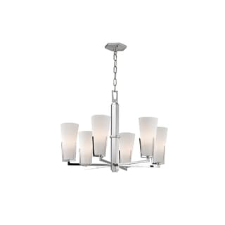 Hudson Valley Upton 6-light Chrome Chandelier with Frosted Shade