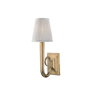 Hudson Valley Douglas 1-light Brass Sconce with White Silk Shade
