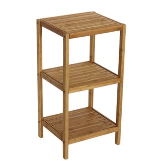 Bamboo Natural Spa 3-shelf Tower (2 options available)