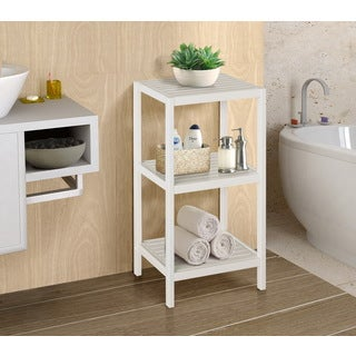 Nice Bamboo Natural Spa 3 Shelf Tower