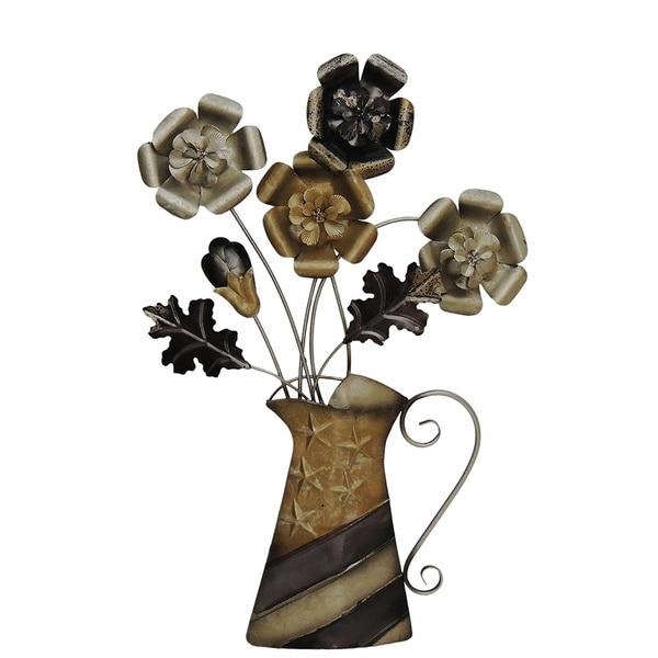 Shop Gallerie D 233 Cor Flowers In Vase Metal Wall Art