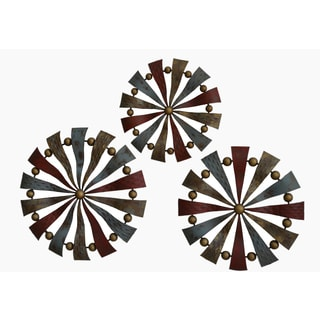 Gallerie Decor 'Pinwheels' Metal Wall Art (Set of 2)