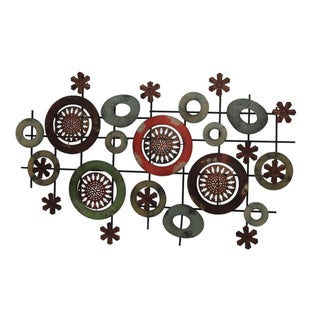 Gallerie Decor Geo Circles Metal Wall Art