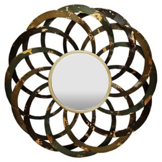 Gallerie Décor 'Circles' Metal Wall Mirror