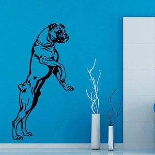 Boxer Dog Vinyl Sticker Wall Art