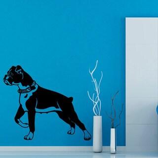 Boxer Puppy Dog Pet Vinyl Sticker Wall Art