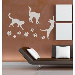 Cats Paw Prints Vinyl Sticker Wall Art