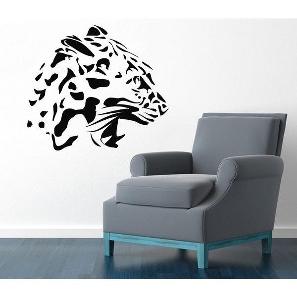 Shop Cheetah Head Vinyl Sticker Wall Art - Free Shipping On Orders ...