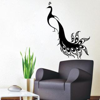 Peacock Bird Vinyl Sticker Wall Art